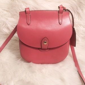 Dooney Bourke Alto Pink Leather Crossbody Handbag